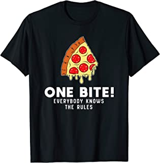 One Bite Everybody Knows The Rule Cool Pizza Shirt