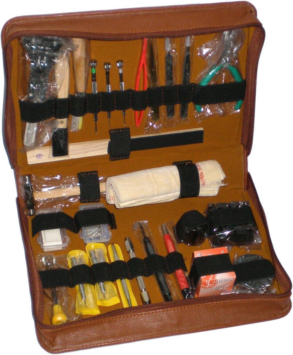 Gran kit de herramientas S1 Deluxe EXQUISITE en estuche para relojero