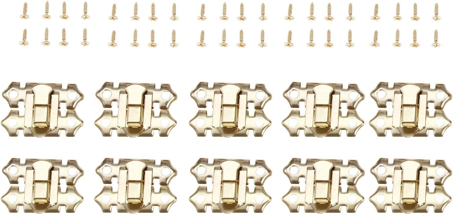 10Pcs Gold Box Decorative Hasp Jewelry Lock Catch Nashville-Davidson Mall New mail order Su Latches