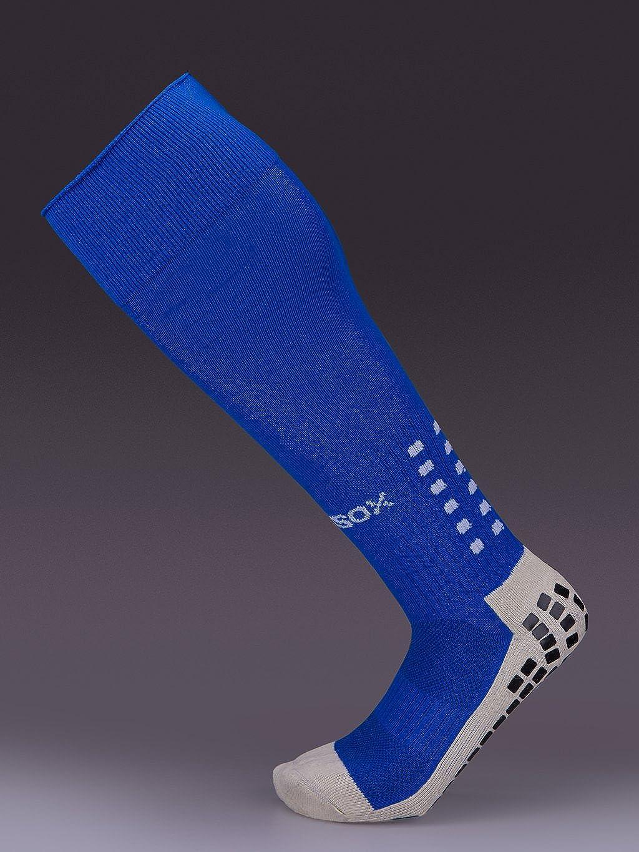 Rhino Gadget Football Grip Socks Anti Non Slip Long Knee Length Cushion with Grip Rubber Pads