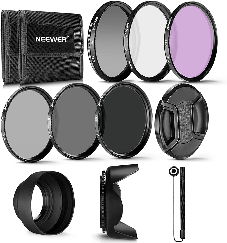 Neewer Popular popular 62MM Professional UV CPL Long Beach Mall FLD D Lens Filter and Neutral ND