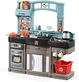 Step2 Best Chefs Kitchen Playset | Kids Play Kitchen with 25-Pc Toy Accessories Set, Real..