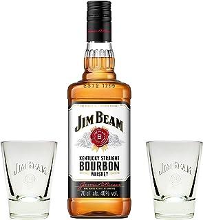 Jim Beam Bourbon Whiskey 40% 0,7l  2 Original Gläser - Geschenkidee