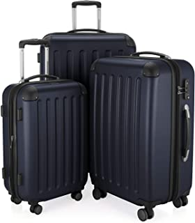 HAUPTSTADTKOFFER - Spree - Set de 3 valises, Bagages rigides, ABS, TSA, extensible, extra léger, 4 roues, 7 (S M & L), Ble...