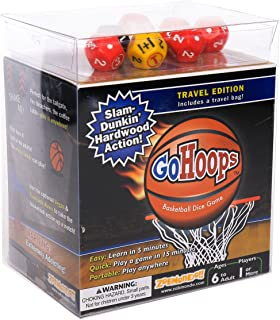 GoHoops Basketball Dice Game | For Basketball Fans, Families and Kids | Play at Home or for Travel