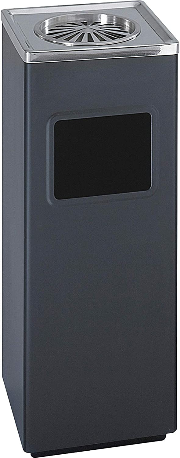 Safco Products 9696BL Square Shipping included Ash And Black Super popular specialty store Can Trash