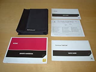 RENAULT SCENIC & GRAND SCENIC III OWNERS MANUAL HANDBOOK c/w WALLET (2009 - 2013) - 1.4 TCE 1.6 2.0 LITRE PETROL 1.5 1.9 2.0 dCI TURBO DIESEL ENGINE - OWNER'S HAND BOOK MANUAL
