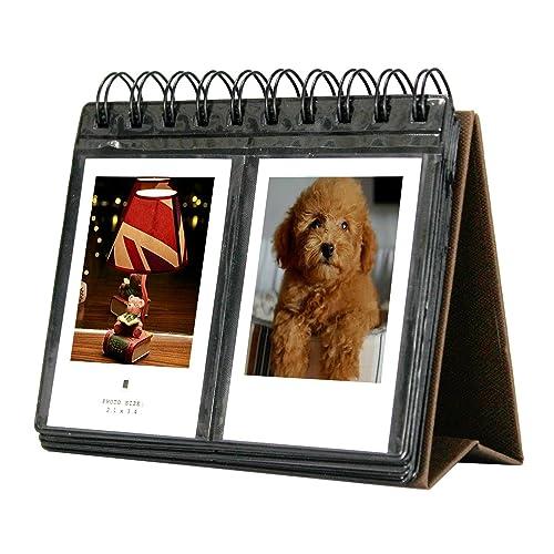 SAIKA 68 Pockets Mini Album Polaroid Calendar Photo Album for Instax Mini 25 26 70 7s 90/ Polaroid Snap/Snap Touch / Z2300 / SocialMatic Instant Cameras/Zip Instant Printer. By SAIKA (Brown)