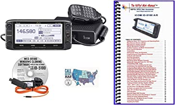 Bundle - 4 Items - Includes Icom ID-5100A Deluxe VHF/UHF D-Star Transceiver, RT Systems Programming Software/Cable Kit, Ni...