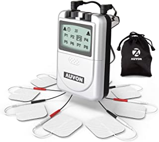 AUVON Digital TENS Unit, Professional Transcutaneous Electrical Nerve Stimulation Machine with Superior Quality and Proven Effectiveness for Drug-Free Pain Relief (8 TENS Electrodes Pads Included)