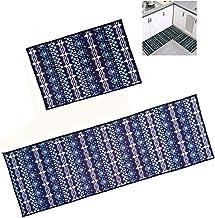 "Arlai 2 Pieces Microfiber Non-Slip Soft Kitchen Mat Bath Rug Doormat Royal blue Carpet Set (1pcs 47.2""x15.7""+1pcs 23.6""x1..."