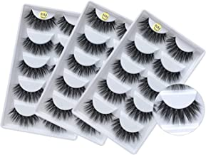 3D Mink False Eyelashes, Handmade Reusable Mink Lashes, Luxurious Wispy Natural Cross Thick Long Lashes Pack (15 Pairs/3 Pack)