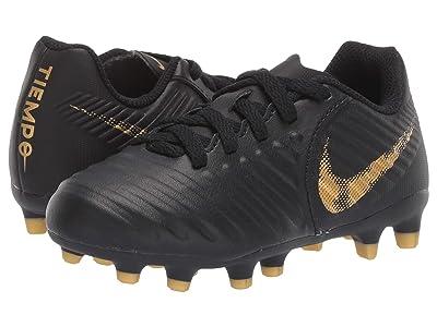 Nike Kids Jr. Legend 7 Club MG Soccer (Toddler/Little Kid/Big Kid) (Black/Metallic Vivid Gold) Kids Shoes