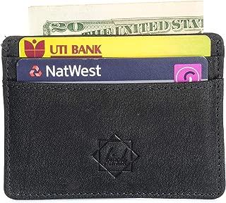 Credit card wallet slim handmade with dual rfid blocking