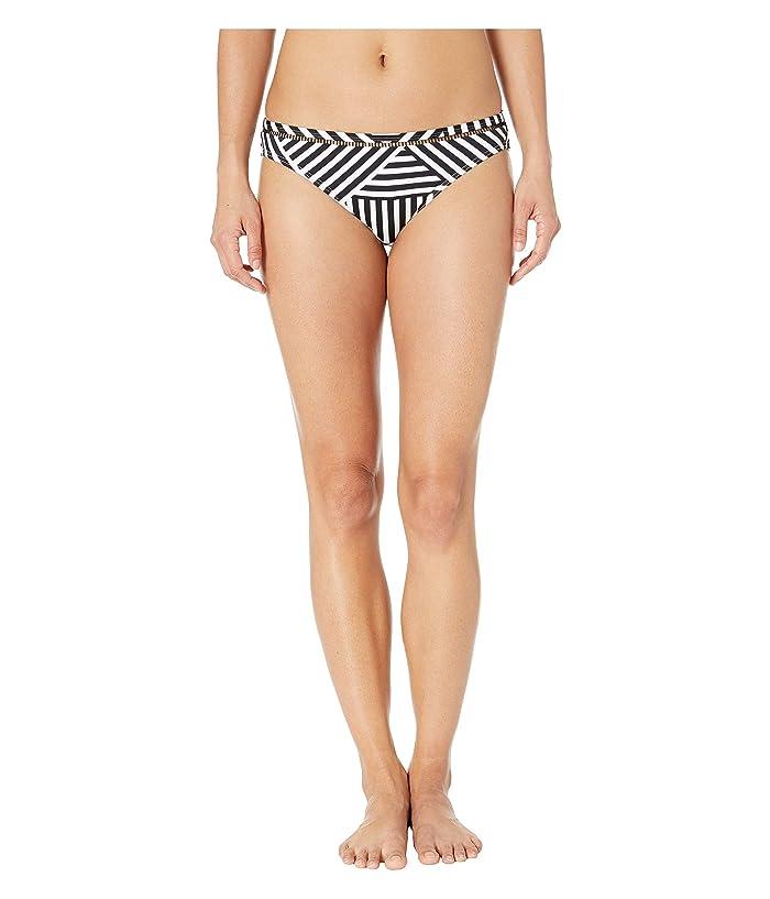 Tommy Bahama Fractured Stripe Hipster Bottoms (Black/White) Women