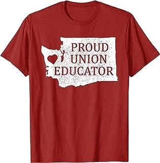 Red For Ed Washington T-Shirt Teacher Protest Union Educator