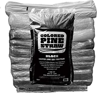 Pallet of Black Colored Pine Straw Bags - 50 Bags per Pallet - 1,250 Sq. Ft. - Premium Pine Needle Mulch