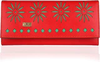 K London Malden Rushett Handmade Artificial Leather Red Women's Super Spacious Clutch (1612_red)