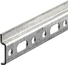 Gedotec Wandrail, hangkast, kastophangrail, bovenkast, montagerail met lengte 2000 mm, verzinkt staal, draagkracht 240 kg,...