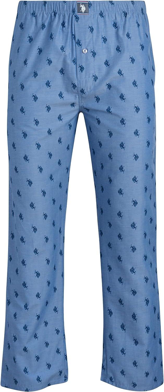 U.S. Polo Assn. Men's Pajama Pants – Lightweight Woven Lounge Pants