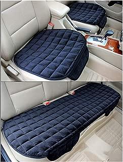 Sommer-Auto-Sitz-Kissen-einzelne Auflage-EIS-Seide-Quadrat-Auflage Backless Universal Anti-Rutsch-freies das Sitz-Kissen bindet,Schwarz,R/ücksitz GUOCU Auto-Sitzkissen
