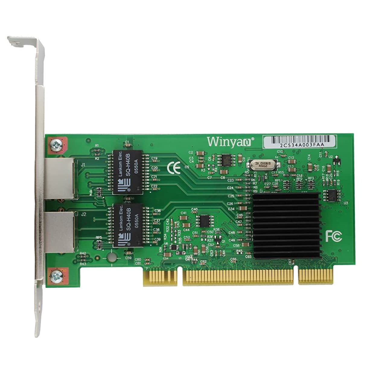 惑星ホラークランプWinyao WY546T2  Dual Port RJ45 Gigabit Network Card intel 82546EB/GB PCI デュアルポート/ネットワークカード