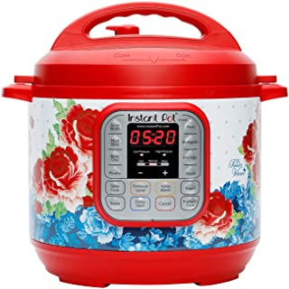 The Pioneer Woman Instant Pot DUO60 6-Quart Frontier Rose 7-In-1 Multi-Use Programmable Pressure Cooker, Slow Cooker, Rice...