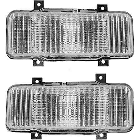 Driver and Passenger Park Signal Front Marker Lights Lamps Lenses Replacement for Chevrolet GMC SUV Pickup Truck 914807 914808