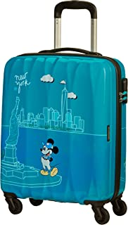 American Tourister Disney Legends - Spinner S Bagaglio a Mano, S (55 cm - 36 Litri), Turchese (Take Me Away Mickey Nyc)