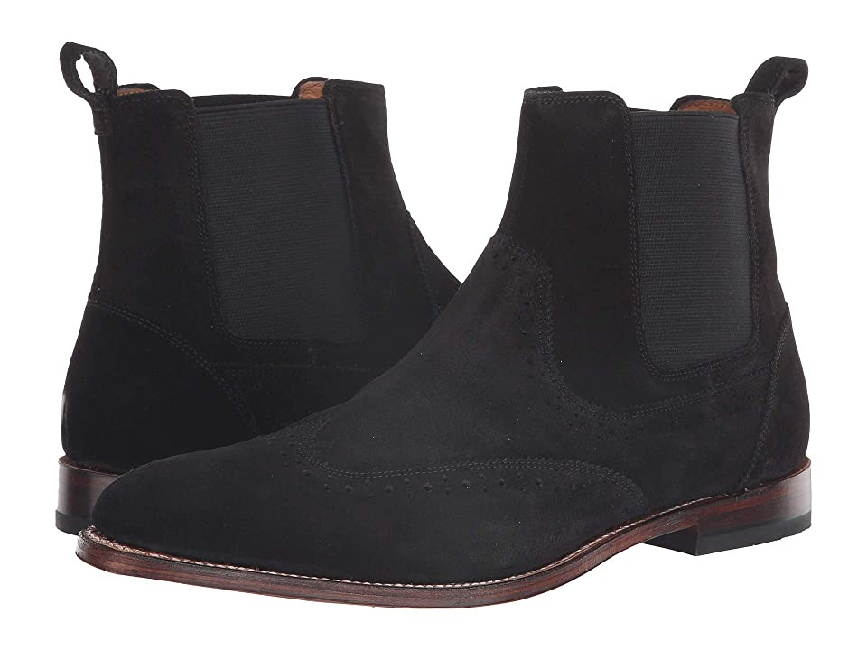 Stacy Adams M2 Wingtip Chelsea Boot (Black Suede) Men