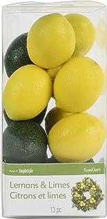 FloraCraft Design It Simple Decorative Fruit 13/Pkg, Mini Lemons and Limes