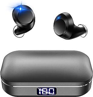 Bluetooth イヤホン Hi-Fi ワイヤレス イヤホン IPX7完全防水 3Dステレオサウンド CVC8.0ノイズキャンセリング AAC/SBC対応 日本語音声 ブルートゥース イヤホン 自動ペアリング 自動電源ON/OFF 両耳通話 ...