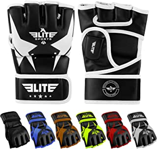 Elite Sports Pro Style MMA Gloves Martial Arts Grappling Sparring Gloves