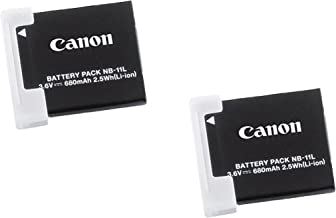 Canon NB-11L 2x Rechargeable 3.6V 680mAh 2.5Wh Lithium-Ion Battery Pack
