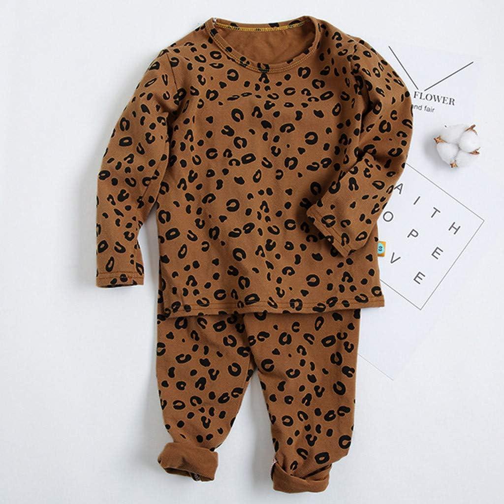 Wanshop Conjunto de pijama de manga larga para beb/és y ni/ñas