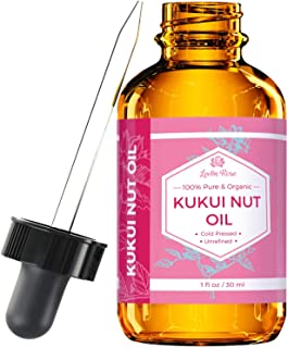 Kukui Nut Oil from Leven Rose, 100% Natural Organic (Cold Pressed, Unrefined) 1 oz (1 oz)