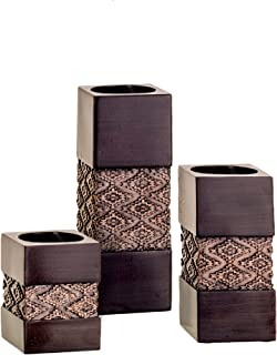 Creative Scents Tealight Candle Holders Table Decor Gift Set of 3 - Centerpieces for Living or Dining Room Table, Coffee T...