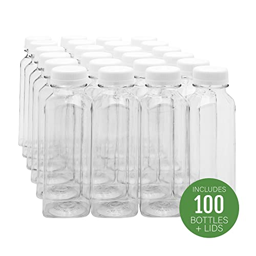 20-pack 8 oz Clear Plastic Square Bottles  Lid PARTY  WEDDING FAVORS INVITATIONS