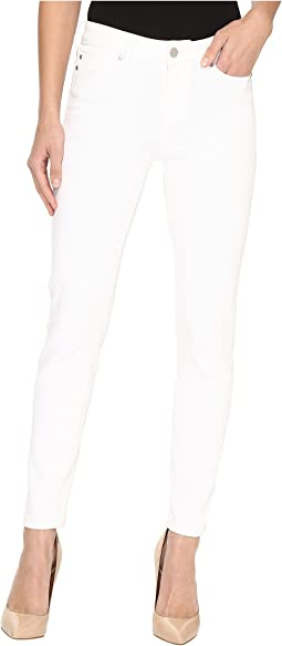 Penny Ankle Skinny on Super Soft Stretch Denim in Bright White