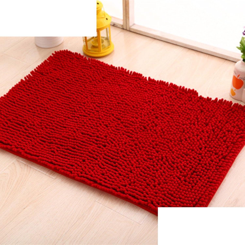 Chenille mat bathroom Bathroom Water-absorption anti-slip door mat floor mats for bedroom -K 50x160cm(20x63inch)