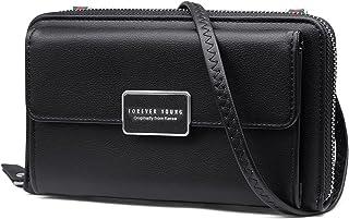 REETEE Handy Umhängetasche Damen Handytasche zum Umhängen Leder Handy Schultertasche Geldbörse Damen Klein Crossbody Tasch...