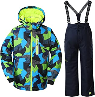 Boy's Ski Suit Waterproof Windproof Ski Jacket Pants Colorful