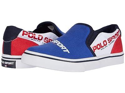Polo Ralph Lauren Kids Thompson (Little Kid) (Royal/White/Red Canvas/Polo Sport Logos) Boy