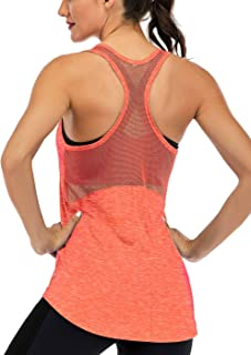 Fihapyli Workout Tank Tops for Women Sleeveless Yoga Tops for Women Mesh Back Tops Racerback Muscle Tank Tops Workout Tops...