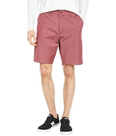 RVCA Back in Hybrid Shorts (Oxblood Red) Men
