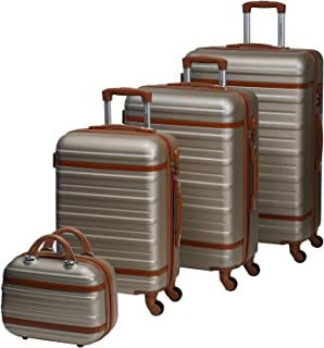 Chalish Luggage Trolley Bags for unisex 4pcs, Grey