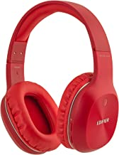 Edifier W800BT Bluetooth Headphones - Over-The-Ear Wireless Headphone, 50 Hours Extended Playback, Lightweight - Red
