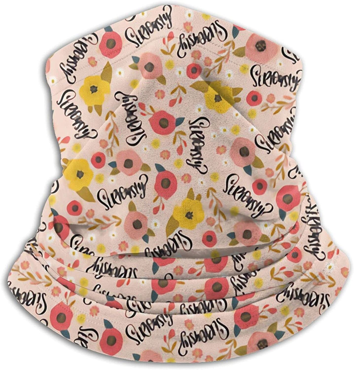 Pretty Sweary Seriously Pink Bandanas Neck Gaiter Face Mask Scarf Face Shield