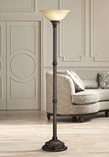 hampton bay 71.25 in. bronze torchiere floor lamp