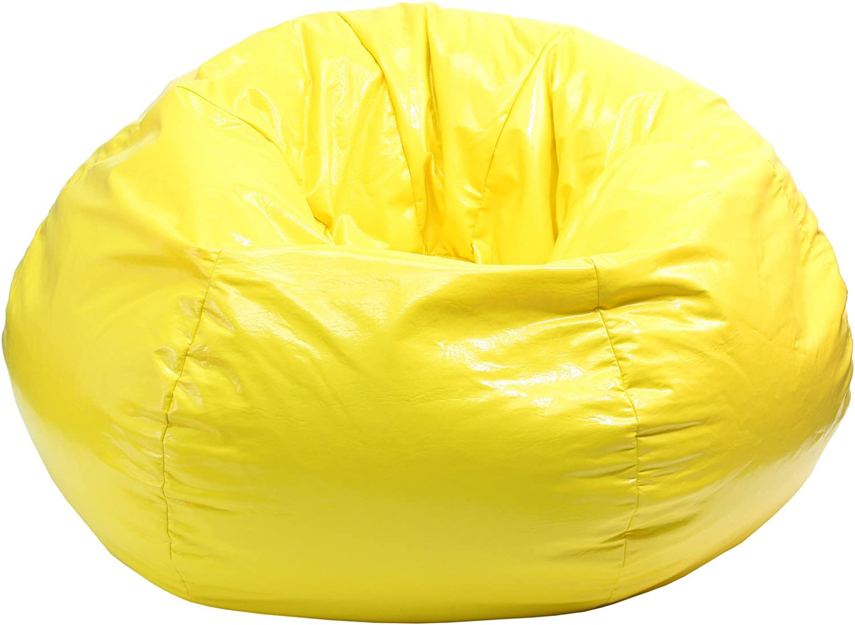 gold Medal Bean Bags Wet Look Vinyl Bean Bag, Medium Tween, Yellow